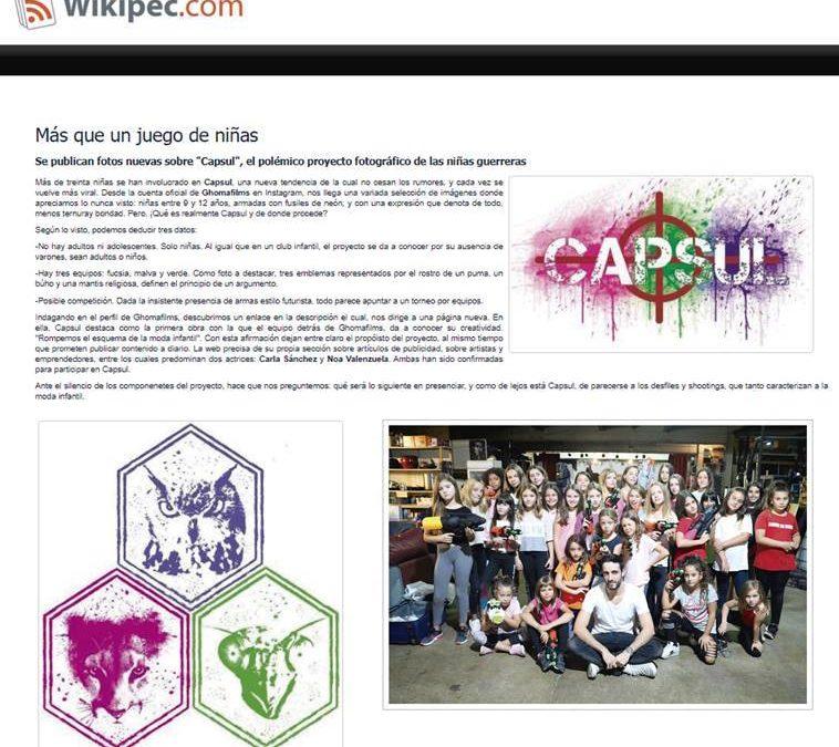Capsul es mencionado en Wikipec